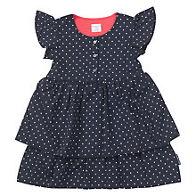 Buy Polarn O. Pyret Children's Ruffle Print Dress, Blue Online at johnlewis.com
