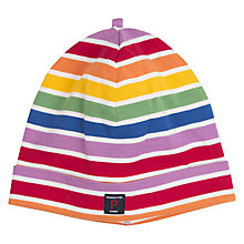 Buy Polarn O. Pyret Children's Rainbow Stripe Beanie Hat, Multi Online at johnlewis.com