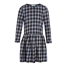 Buy John Lewis Girls' Check Dress, Grey Online at johnlewis.com