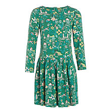 Buy John Lewis Girls' Floral Woven Dress, Green Online at johnlewis.com