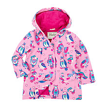 Buy Hatley Girls' Happy Owls Classic Raincoat, Pink Online at johnlewis.com
