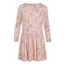 Buy John Lewis Girls' Bird Cage Print Dress, Pink Online at johnlewis.com