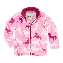 Buy Hatley Girls' Fairy Tale Horses Fleece Jacket, Pink Online at johnlewis.com
