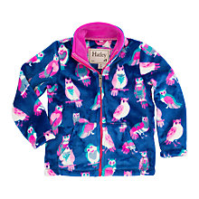 Buy Hatley Girls' Happy Owls Fleece Jacket, Navy Online at johnlewis.com