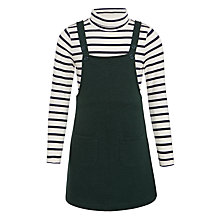 Buy John Lewis Girls' Pinafore and Stripe Top Set, Forest Online at johnlewis.com