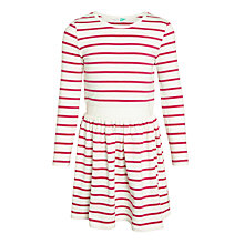 Buy John Lewis Girls' Striped Dress, Pink Online at johnlewis.com