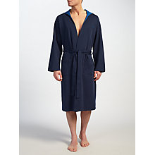 Buy BOSS Double Face Hooded Robe, Navy/Blue Online at johnlewis.com