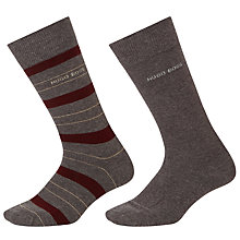 Buy BOSS Plain Stripe Socks, Pack of 2 Online at johnlewis.com