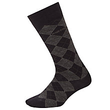 Buy BOSS Argyle Wool Blend Socks, Navy Online at johnlewis.com