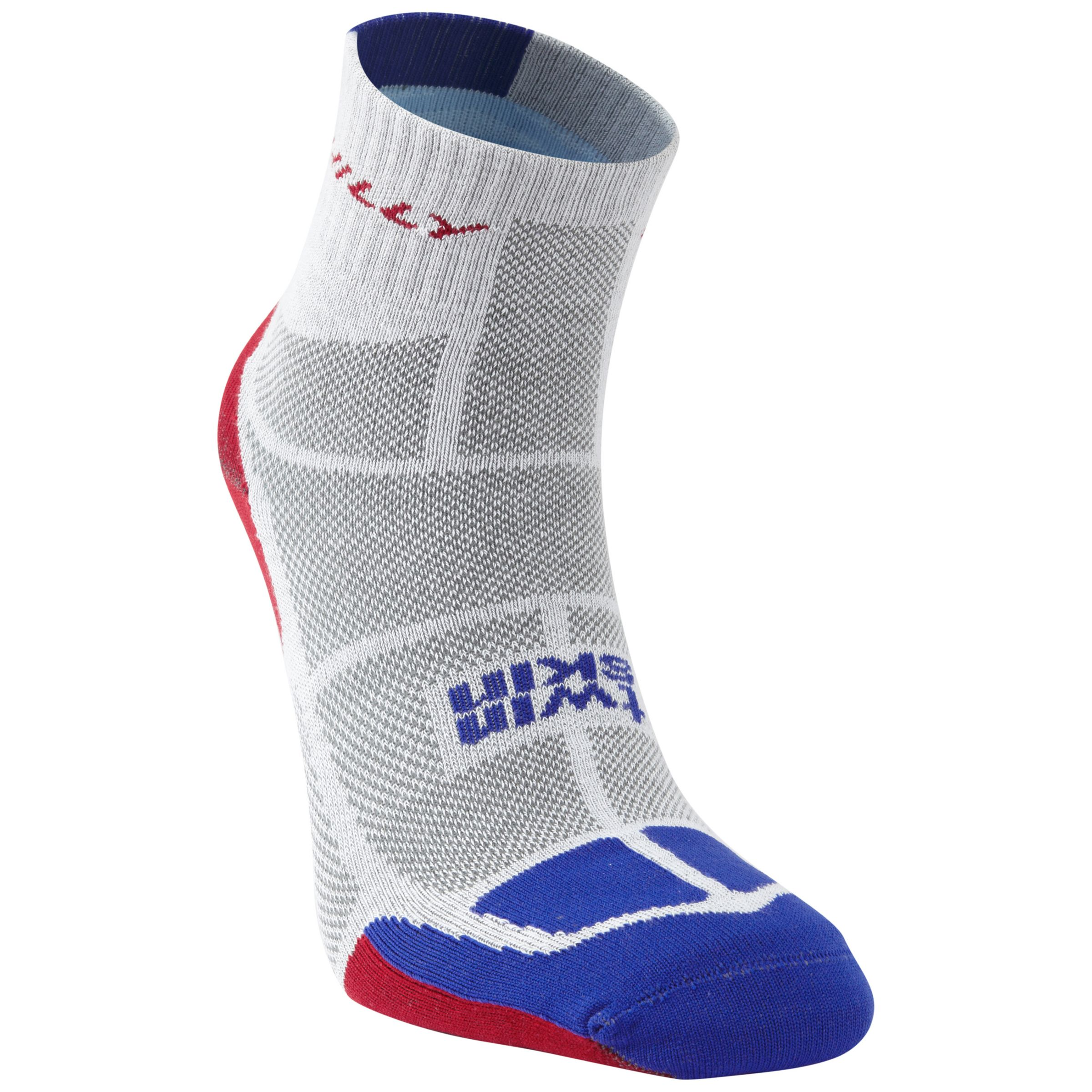 Hilly Hilly Twin Skin Socklets, White/Grey