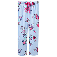 Buy Joules Fleur Floral Print Flannel Pyjama Bottoms, Dusky Blue Online at johnlewis.com