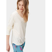 Buy Joules Nita Jersey Pyjama Top, Porcelain Online at johnlewis.com