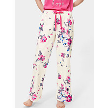 Buy Joules Fleur Print Flannel Pyjama Bottoms, Porcelain Floral Online at johnlewis.com