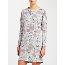 Buy John Lewis Lucinda Floral Jersey Nightdress, Grey/Lilac Online at johnlewis.com