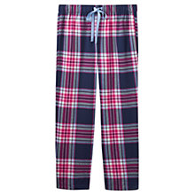 Buy Joules Fleur Checked Flannel Pyjama Bottoms, Navy/Multi Online at johnlewis.com