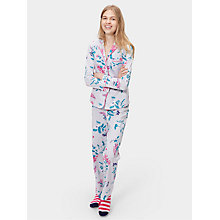 Buy Joules Astrid Pyjama Set, Silver Hedgerow Online at johnlewis.com