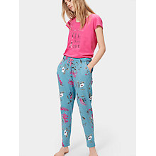 Buy Joules Erica Jersey Pyjama Bottoms, Soft Teal Hedgerow Online at johnlewis.com