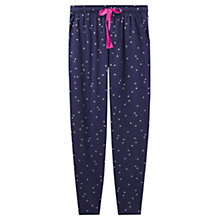 Buy Joules Erica Jersey Star Print Pyjama Bottoms, French Navy Online at johnlewis.com