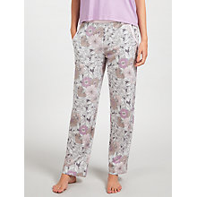 Buy John Lewis Lucinda Floral Jersey Pyjama Bottoms, Grey/Lilac Online at johnlewis.com