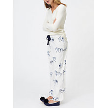Buy Joules Fleur Horse Print Flannel Pyjama Bottoms, Cream/Navy Online at johnlewis.com