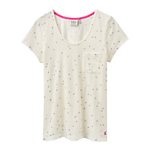 Buy Joules Anna Jersey Star Pyjama Top, Cream Online at johnlewis.com