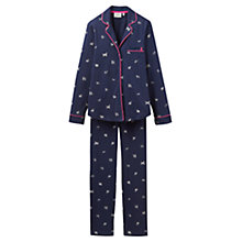 Buy Joules Astrid Scribbly Dog Pyjama Set, French Navy Online at johnlewis.com