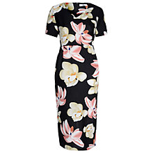 Buy True Decadence Floral Printed Pencil Dress, Black/Pink Online at johnlewis.com