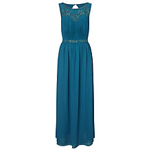 Buy Jacques Vert Embellished Yoke Maxi Dress, Peacock Blue Online at johnlewis.com