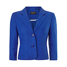 Buy Precis Petite Linen Jacket, Cobalt Online at johnlewis.com