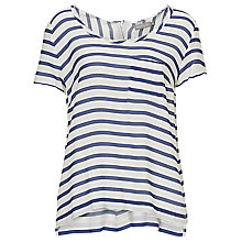 Buy Betty & Co. Short Sleeve Striped Top, Cream/Blue Online at johnlewis.com
