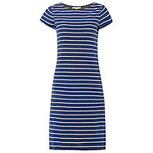 Buy White Stuff Stripe Jersey Dress, Denim Online at johnlewis.com