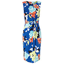 Buy Precis Petite Multi Floral Jersey Dress, Mid Blue Online at johnlewis.com