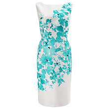 Buy Jacques Vert Delphi Placement Dress, Cream/Muti Online at johnlewis.com