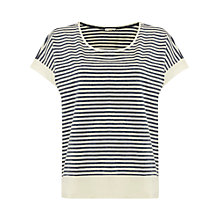 Buy White Stuff Antiqua Striped T-Shirt, Ebony Blue Online at johnlewis.com