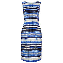 Buy Precis Petite Waterstripe Linen Shift Dress, Blue/Multi Online at johnlewis.com