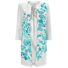 Buy Jacques Vert Delphi Placement Coat, Cream/Multi Online at johnlewis.com