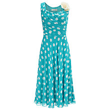 Buy Jacques Vert Spot Print Dress, Blue/Multi Online at johnlewis.com