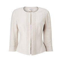 Buy Precis Petite Collarless Pintuck Jacket, Neutral Online at johnlewis.com