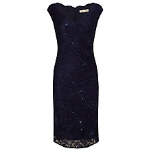 Buy Jacques Vert Embellished Lace Dress, Navy Online at johnlewis.com