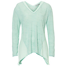 Buy Betty & Co. Fine V-Neck Jumper, Desert Green Online at johnlewis.com