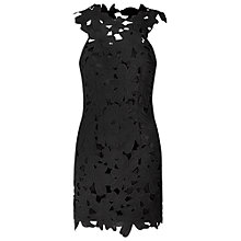 Buy True Decadence Lace Crochet Bodycon Dress, Black Online at johnlewis.com