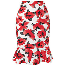 Buy Precis Petite Poppy Skirt, Multi Red Online at johnlewis.com