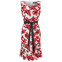 Buy Precis Petite Polka Dot Print Flippy Dress, Red Online at johnlewis.com