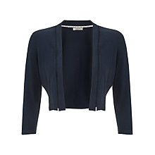 Buy Precis Petite Ladder Stitch Shrug, Navy Online at johnlewis.com