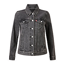 Buy Levi's Boyfriend Trucker Jacket, Mountain Black Online at johnlewis.com