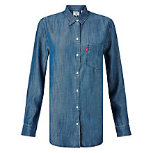 Buy Levi's Sidney Boyfriend Shirt, Ocean Blue Online at johnlewis.com