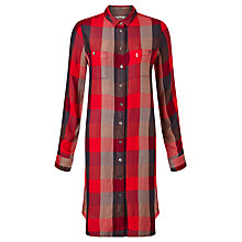 Buy Levi's Workwear Check Dress, Sumac Tango Red Plaid Online at johnlewis.com