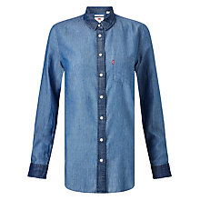 Buy Levi's Modern One Pocket Denim Shirt, Medium Bright Online at johnlewis.com