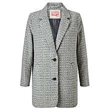 Buy Levi's Wool-Blend Cocoon Coat, Bleached Wool Denim Online at johnlewis.com