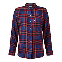 Buy Levi's Sidney Boyfriend Check Shirt, Paprika Original Plaid Online at johnlewis.com